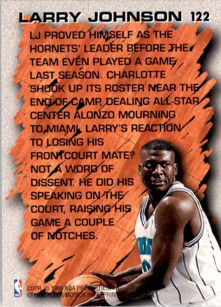 1996-97 Fleer Larry Johnson Hl #122 card back image