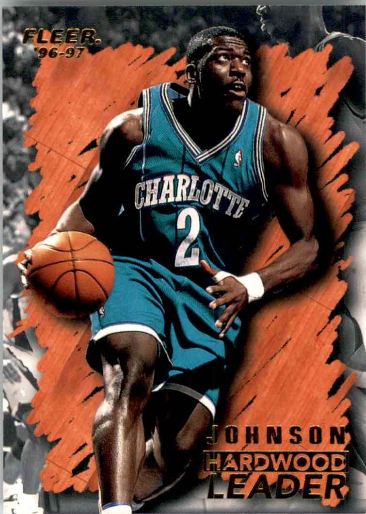 1996-97 Fleer Larry Johnson Hl #122 card front image