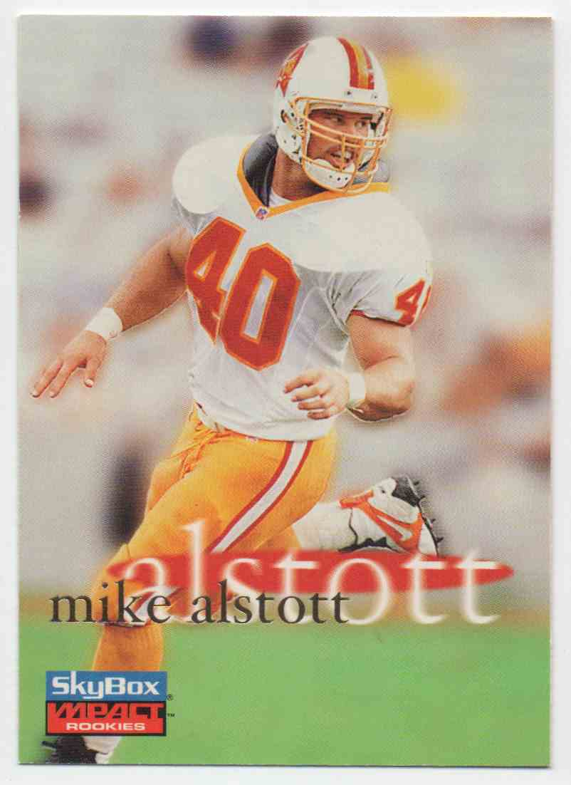 1996 Skybox Impact Mike Alstott #64 card front image