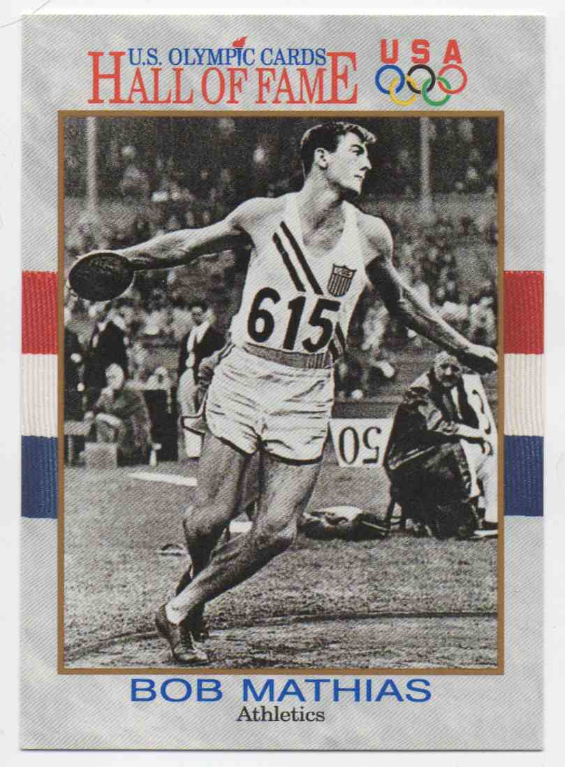 1991 Impel U.S. Olympic Hall Of Fame Bob Mathias #5 card front image