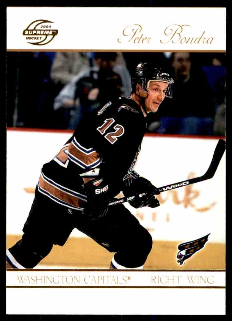 2004-05 Supreme Hockey Peter Bondra #98 card front image