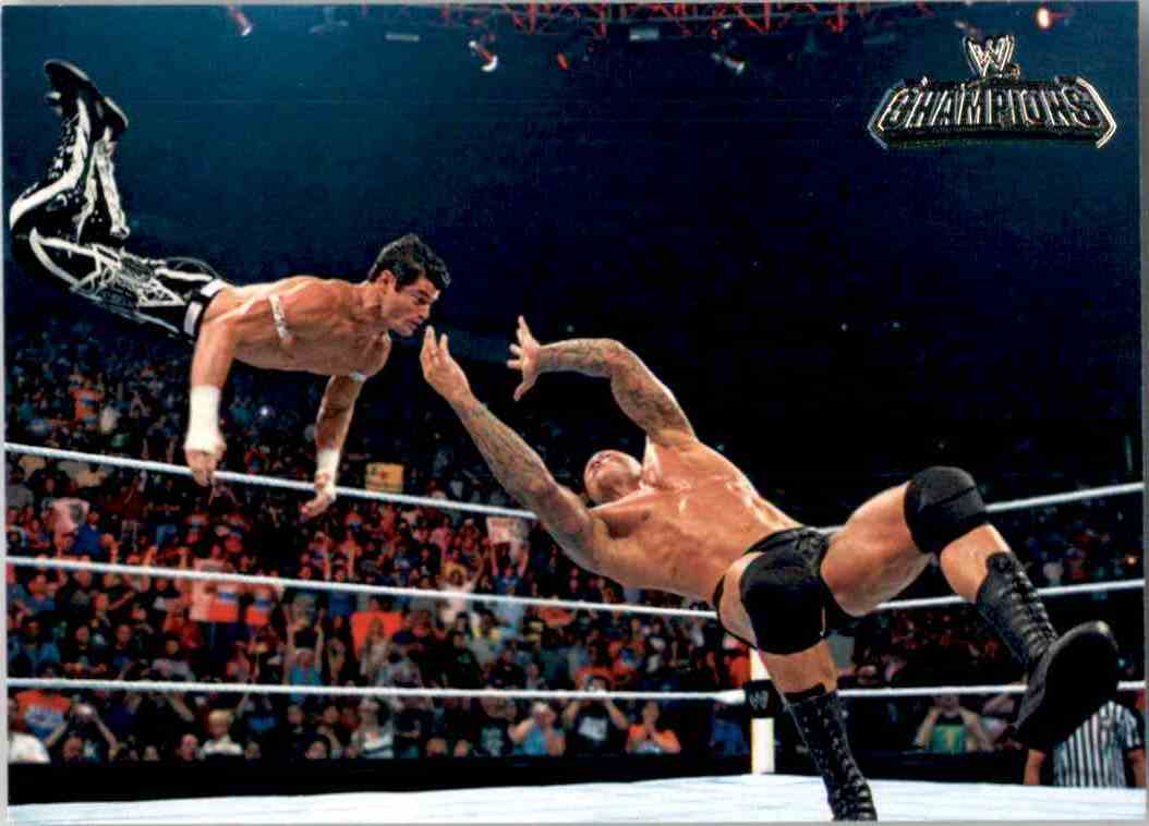 2011 Topps Wwe Champions Randy Orton's Rko On Evan Bourne #48 card front image
