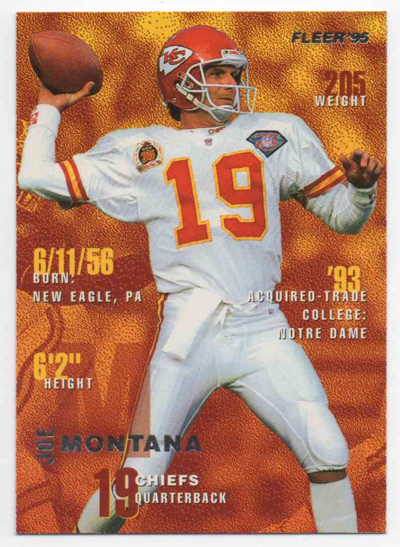 1995 Fleer Joe Montana #183 card front image