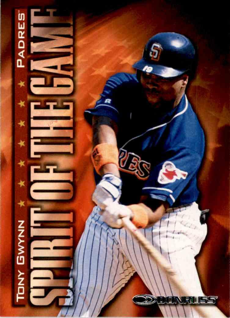 1998 Donruss Spirit Of The Game Tony Gwynn #410 card front image