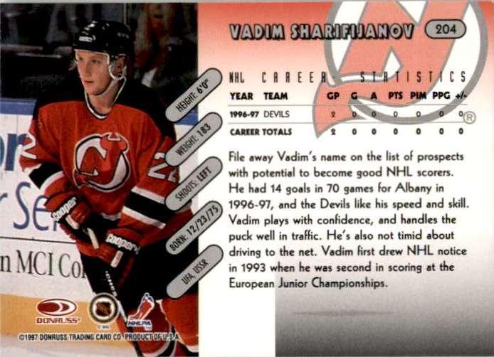 1997-98 Donruss Vadim Sharifijanov #204 card back image