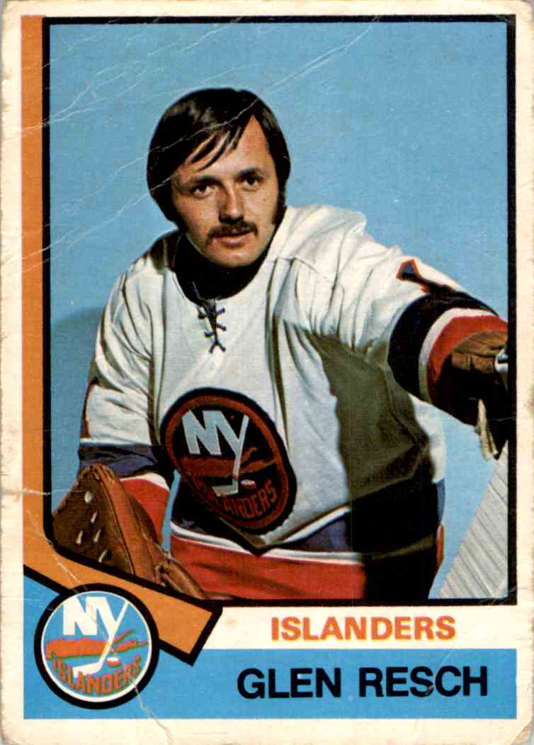 1974-75 O-Pee-Chee Glen Resch #353 card front image