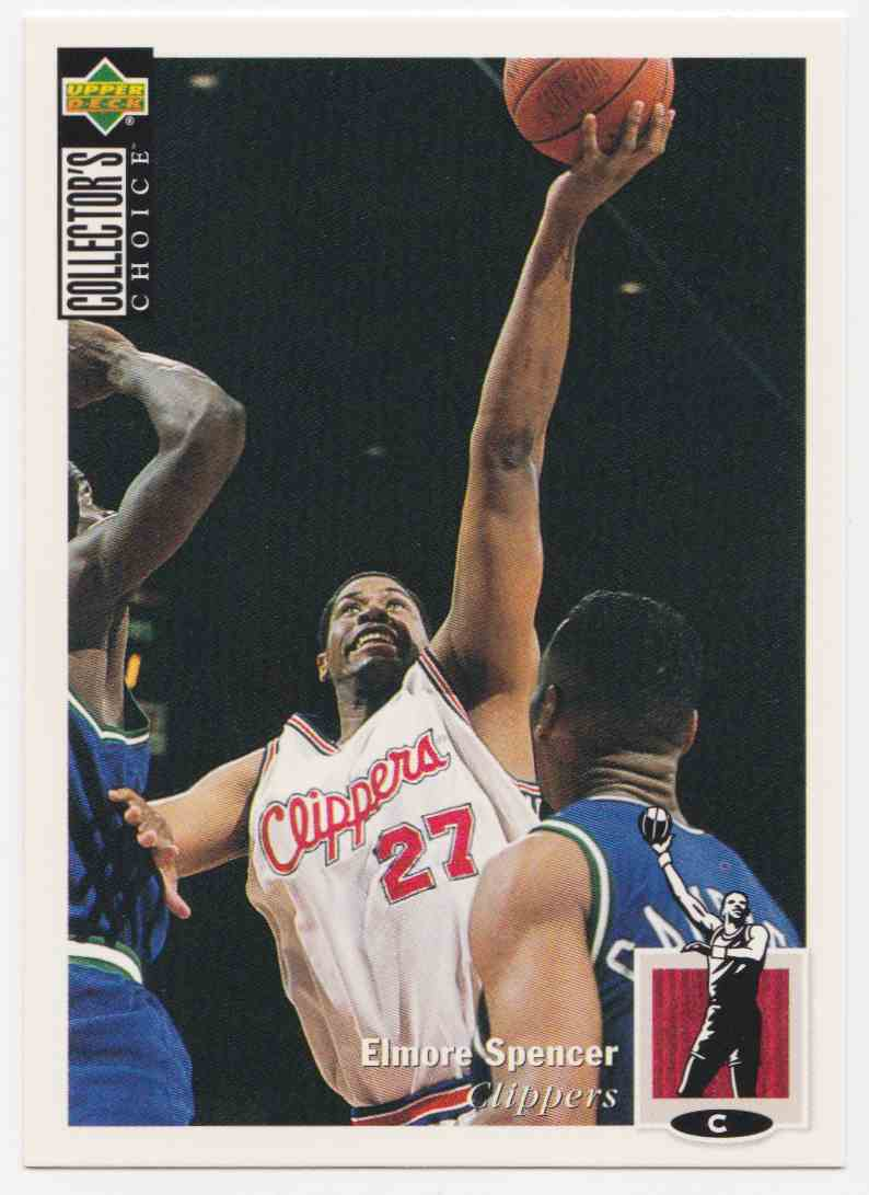 1994-95 Upper Deck Collector's Choice Base Elmore Spencer #27 card front image