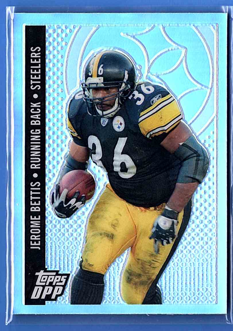 2006 Topps Draft Picks And Prospects Chrome Black Refractors Jerome Bettis #95 card front image