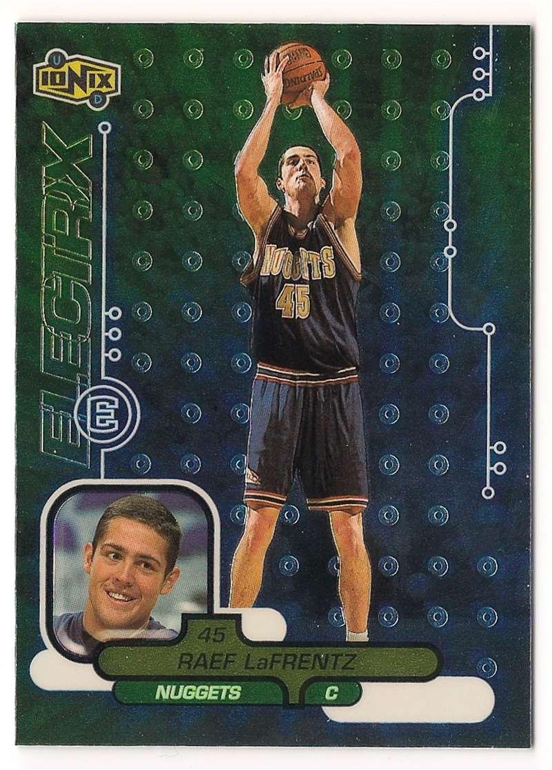 1998-99 Upper Deck Ionix Raef LaFrentz #63 card front image