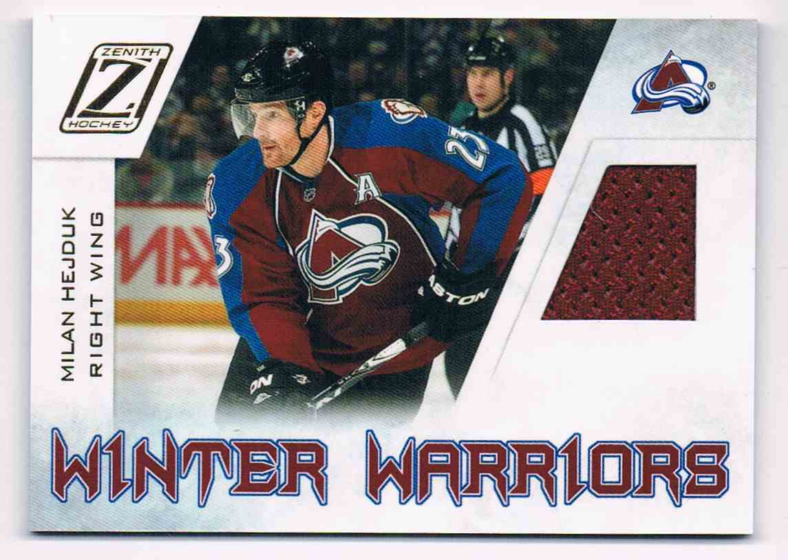 2010-11 Panini Zenith Winter Warriors Milan Hedjuk #MH card front image