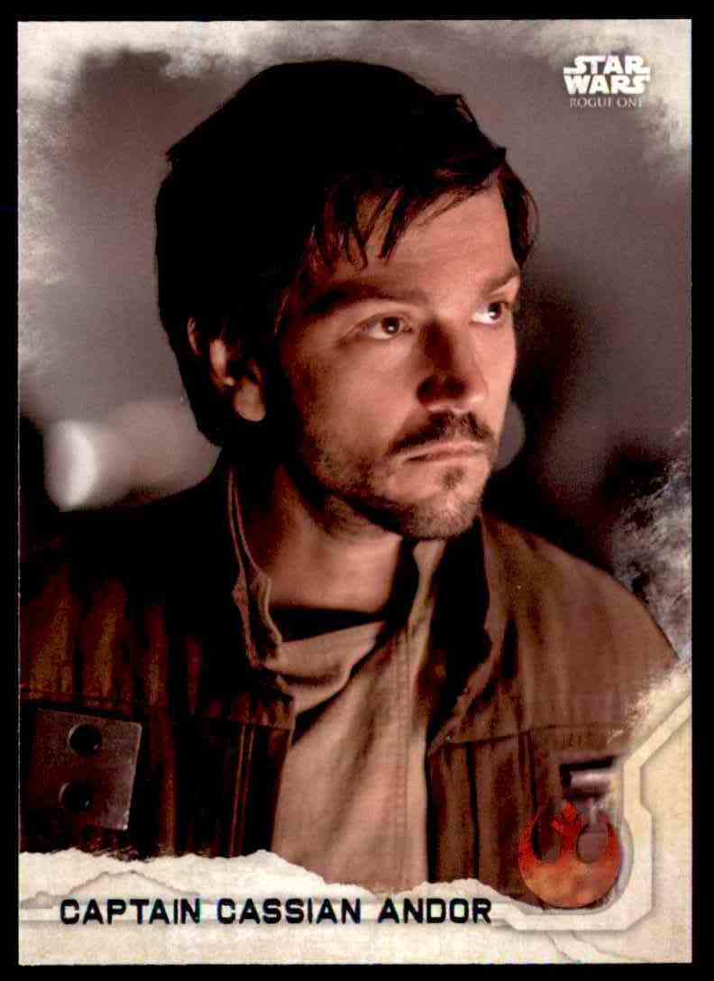 2016 Topps Star Wars Rogue One Captain Cassian Andor #2 card front image