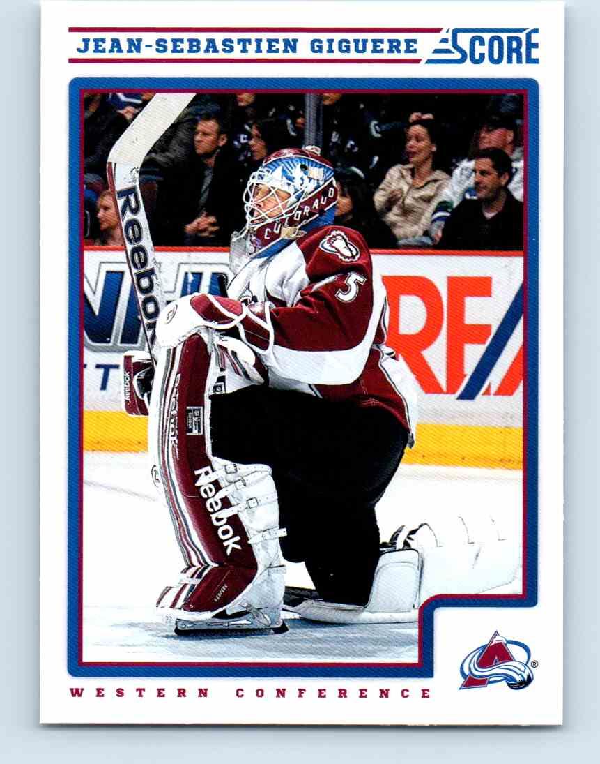 2012-13 Score Jean-Sebastien Giguere #143 card front image