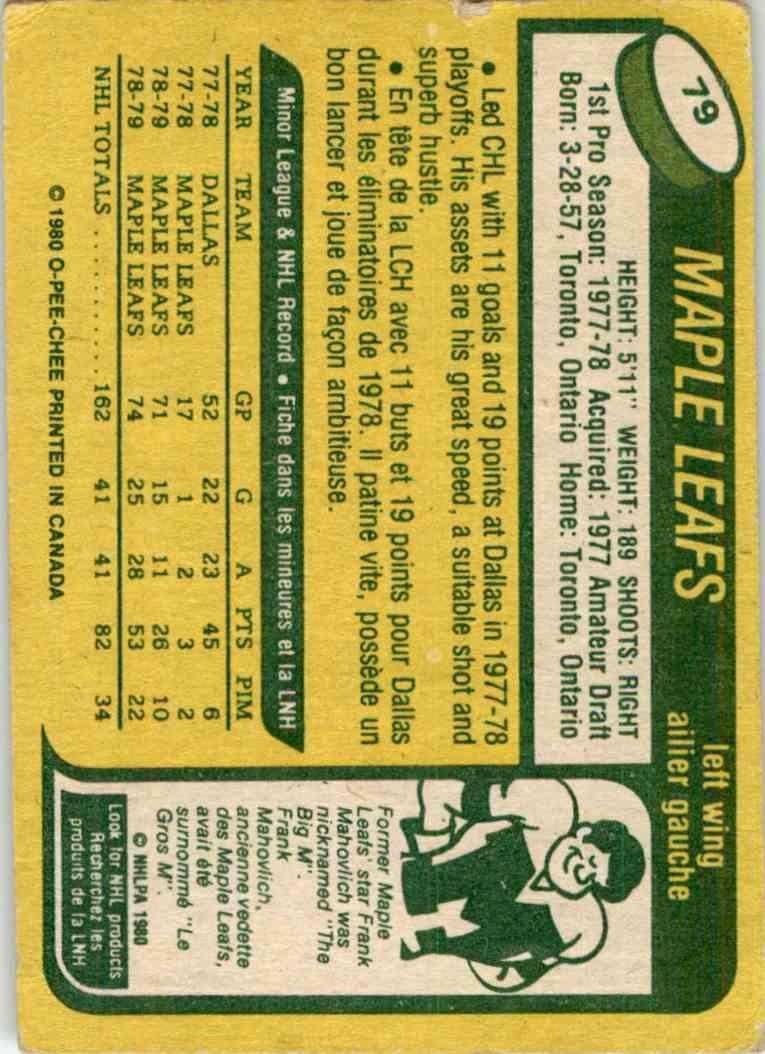 1980-81 O-Pee-Chee John Anderson #79 card back image