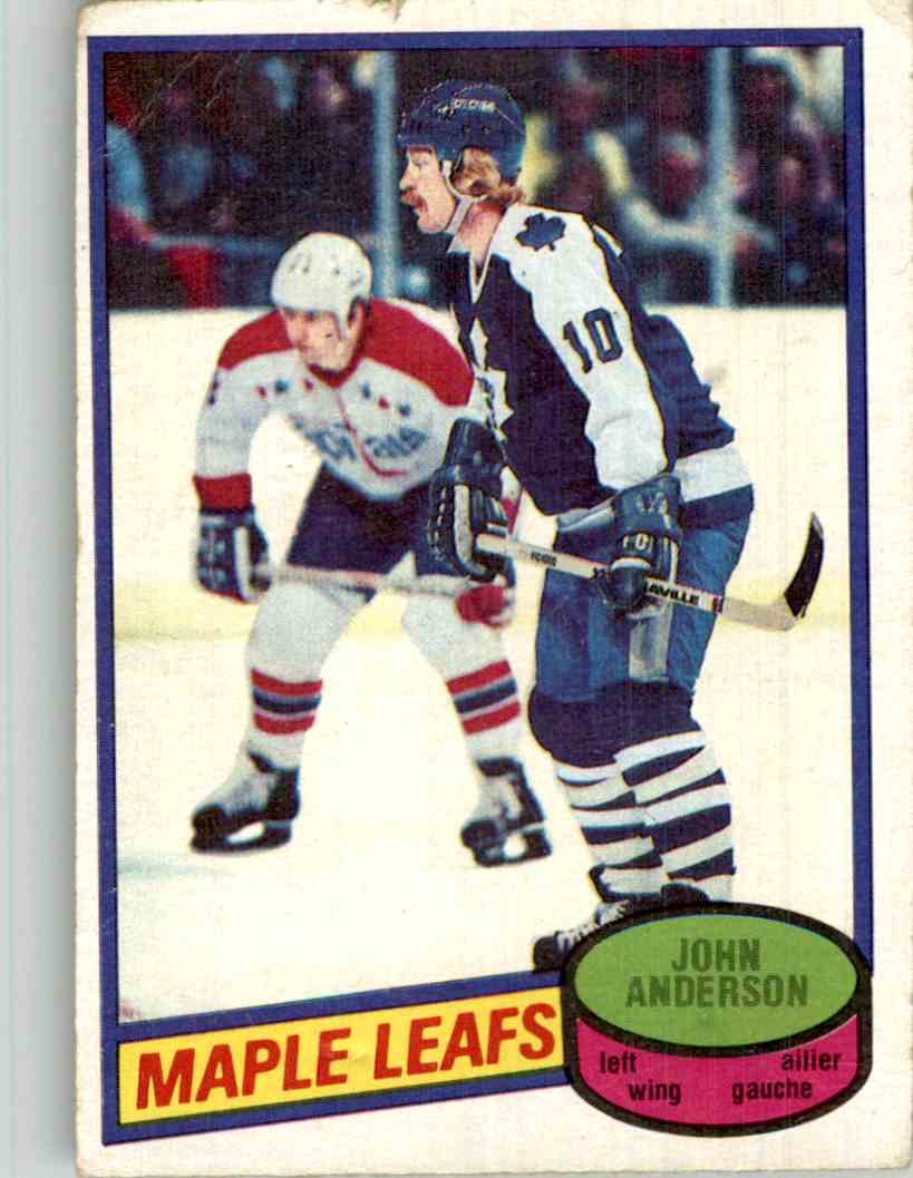 1980-81 O-Pee-Chee John Anderson #79 card front image
