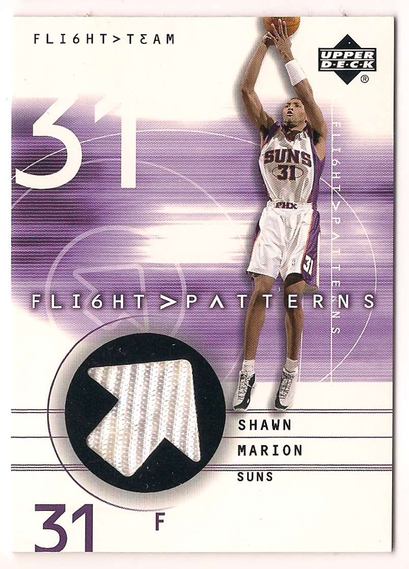 2001-02 Upper Deck Flight Team Shawn Marion #SH card front image