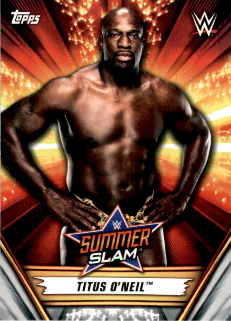 2019 Topps Wwe SummerSlam Titus O'Neil #17 card front image
