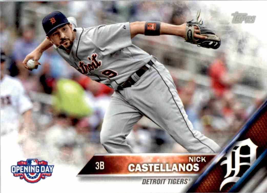 2016 Topps Opening Day Nick Castellanos #OD-168 card front image