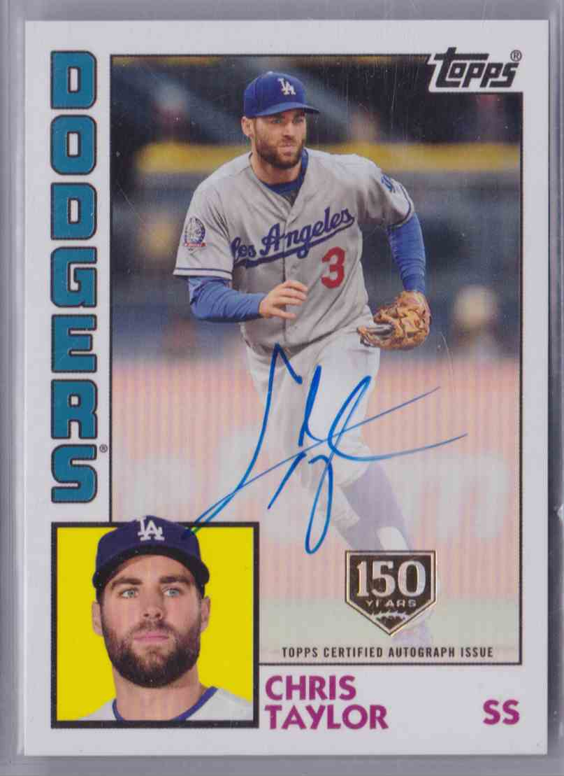 2019 Topps 1984 Topps Baseball Autograph Card 150th Anniversary Chris Taylor #84A-CT card front image