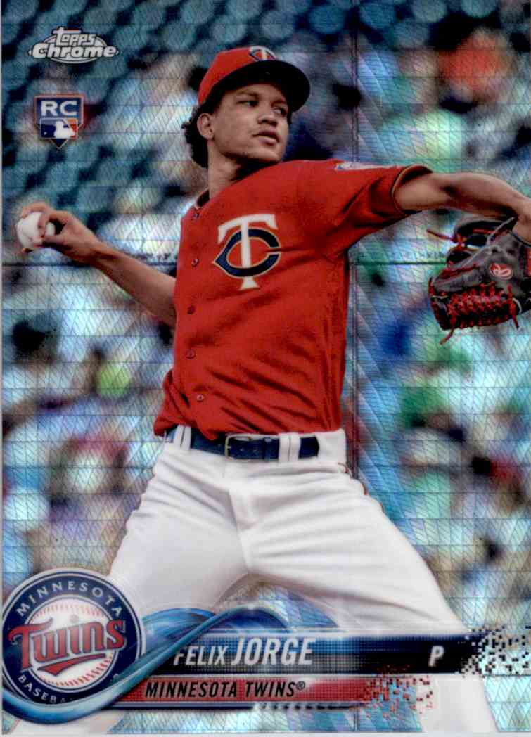 2018 Topps Chrome Prism Refractor Felix Jorge #127 card front image