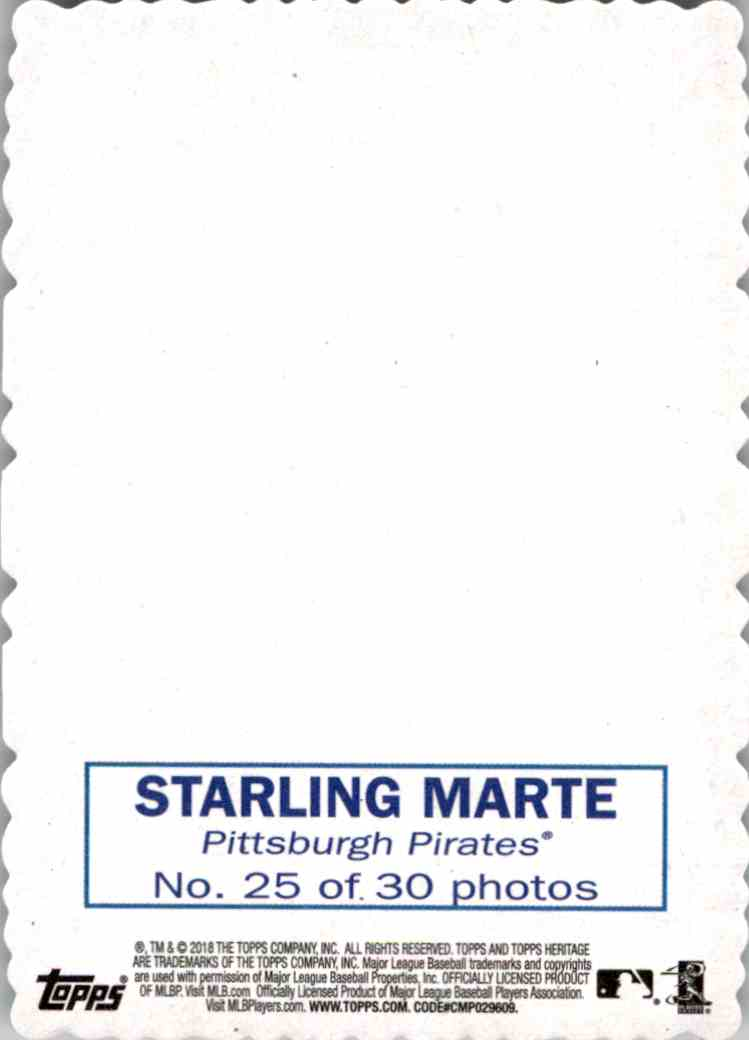 2018 Topps Heritage You Tube 14 Starling Marte #25 card back image