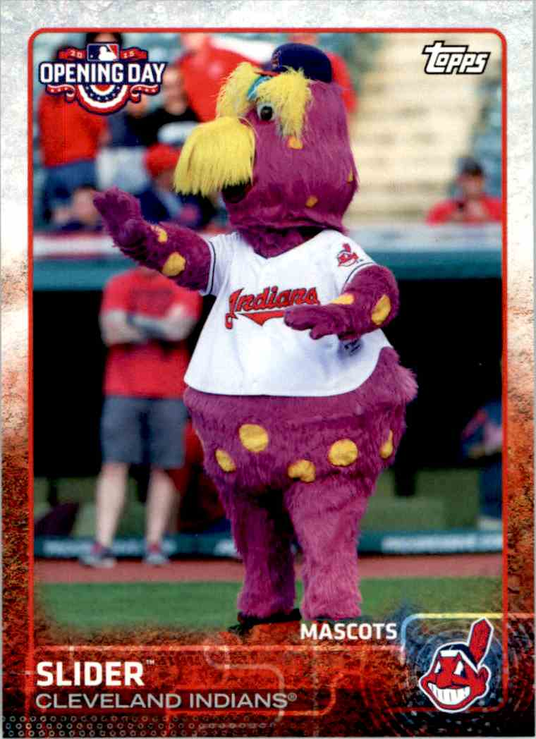 2015 Topps Opening Day Mascots Slider #M-09 card front image