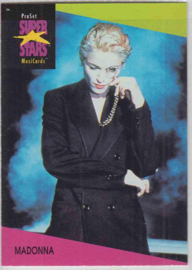 1991 Pro Set SuperStars MusiCards Madonna #67 card front image