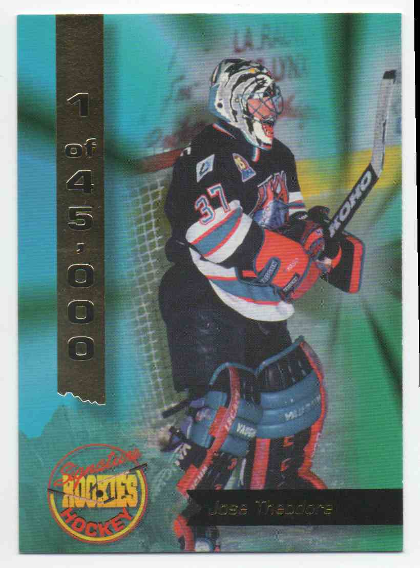 1995-96 Signature Rookies Jose Theodore #10 card front image