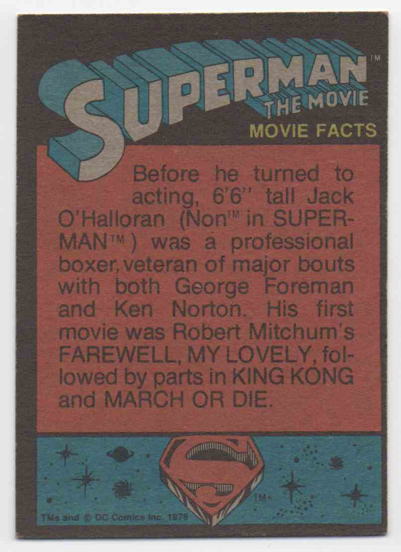 1978 Superman The Movie Zooming Across The Sky #4 card back image