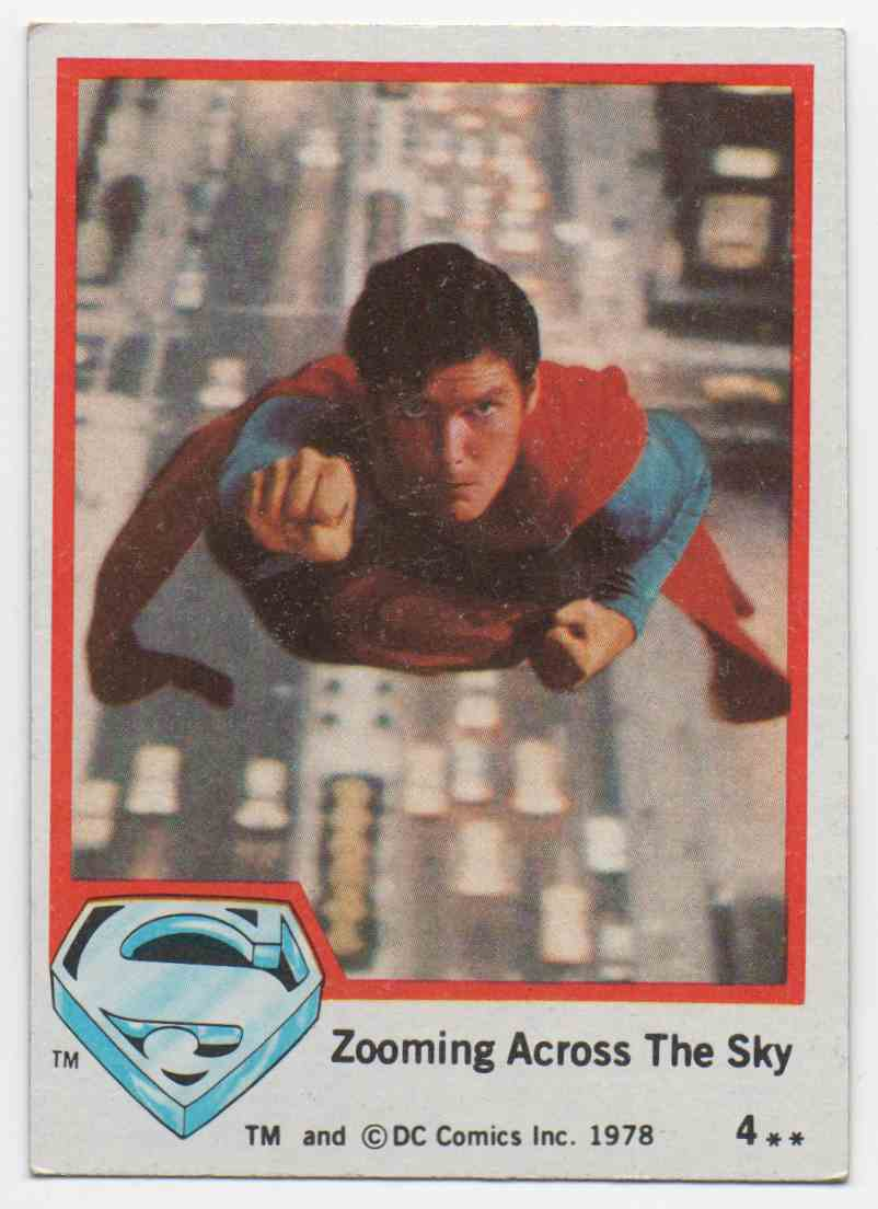 1978 Superman The Movie Zooming Across The Sky #4 card front image
