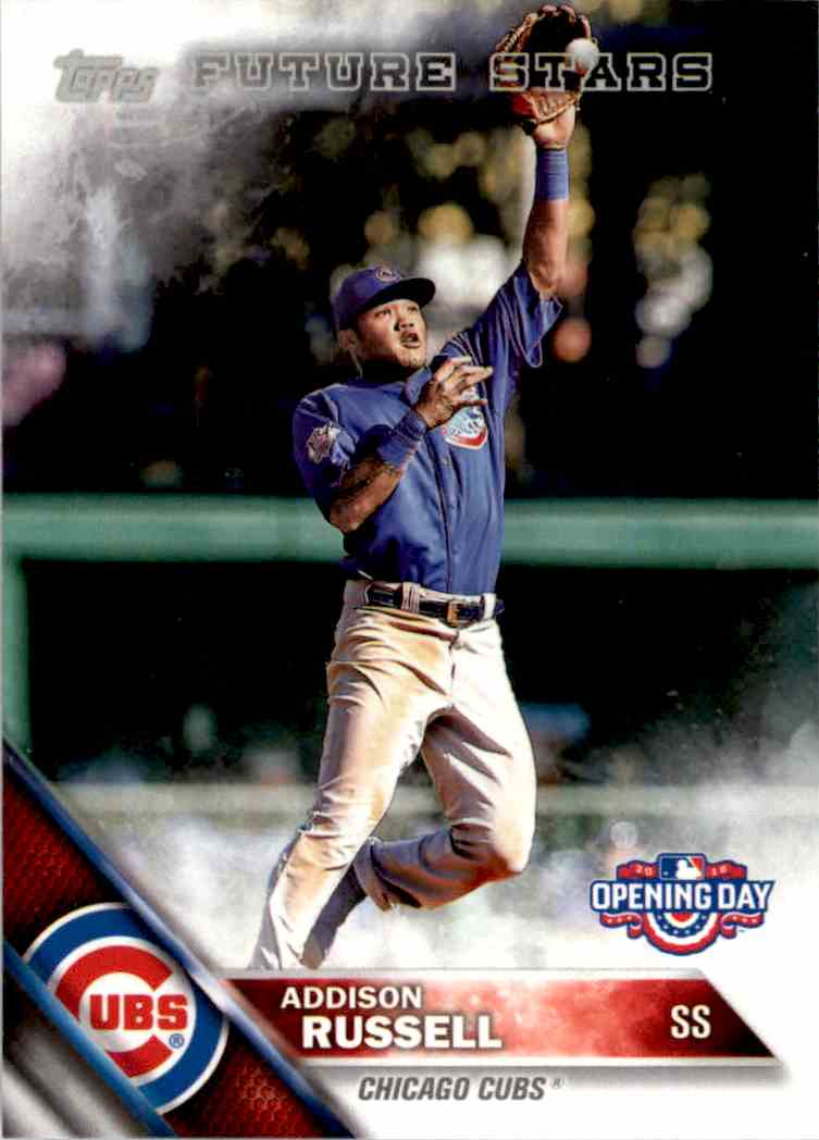 2016 Topps Opening Day Addison Russell FS #OD-121 card front image