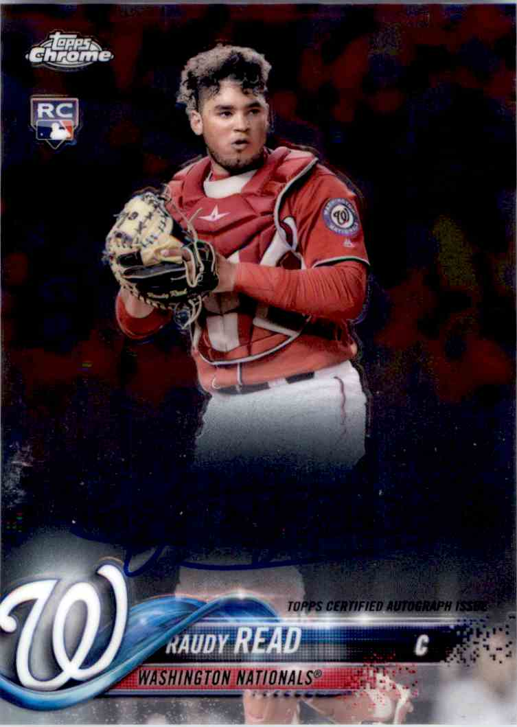 2018 Topps Chrome Base Autograph Raudy Read. #RA-RR card front image