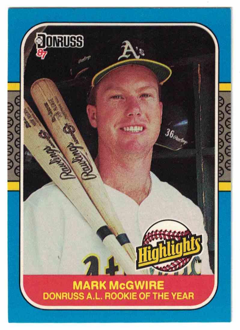1987 Donruss Highlights Mark Mcgwire 54 On Kronozio