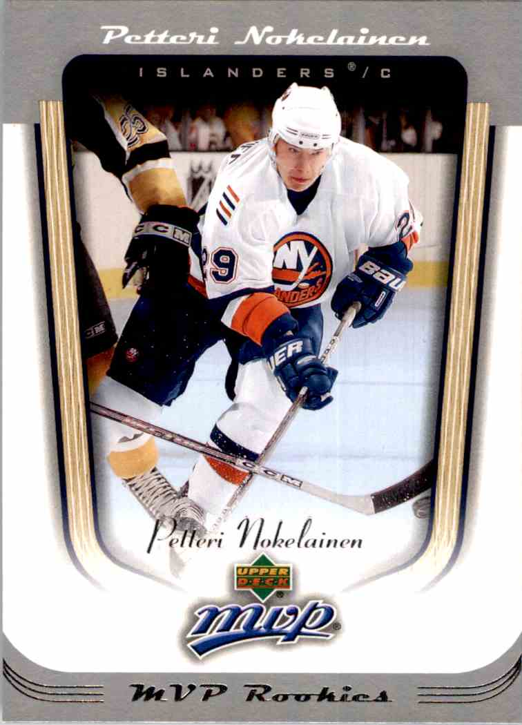 2005-06 Upper Deck MVP Petteri Nokelainen #410 card front image