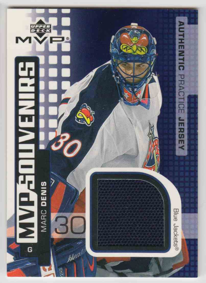 2002-03 Upper Deck MVP Souvenirs Jerseys Marc Denis #S-MD card front image