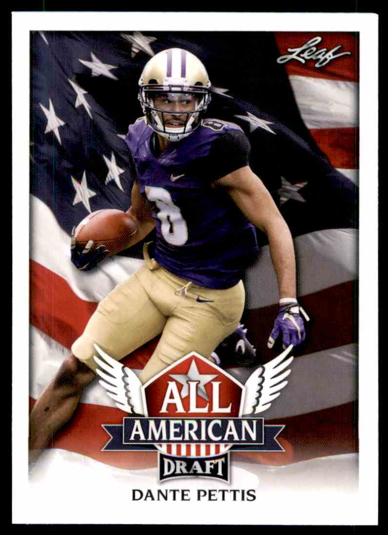 2018 Leaf Draft Dante Pettis #AA-04 card front image