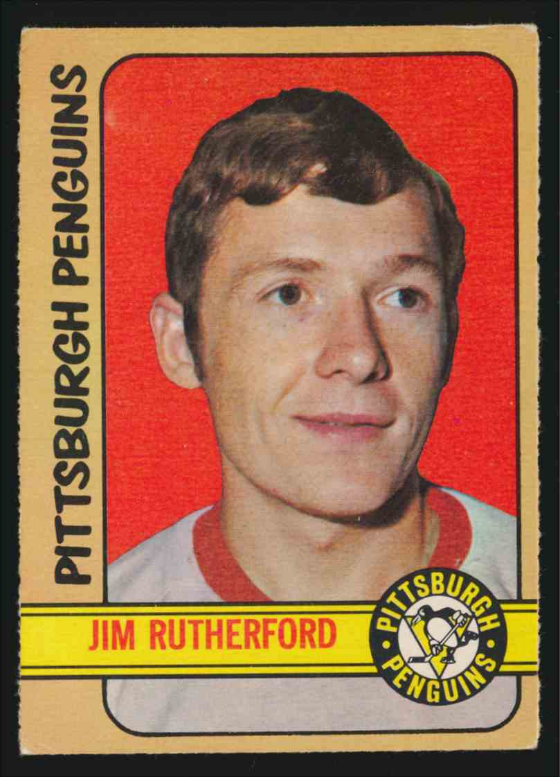 1972-73 0-Pee-Chee Jim Rutherford #15 card front image