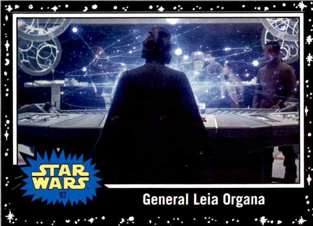 2017 Topps Star Wars General Leia Organa card front image