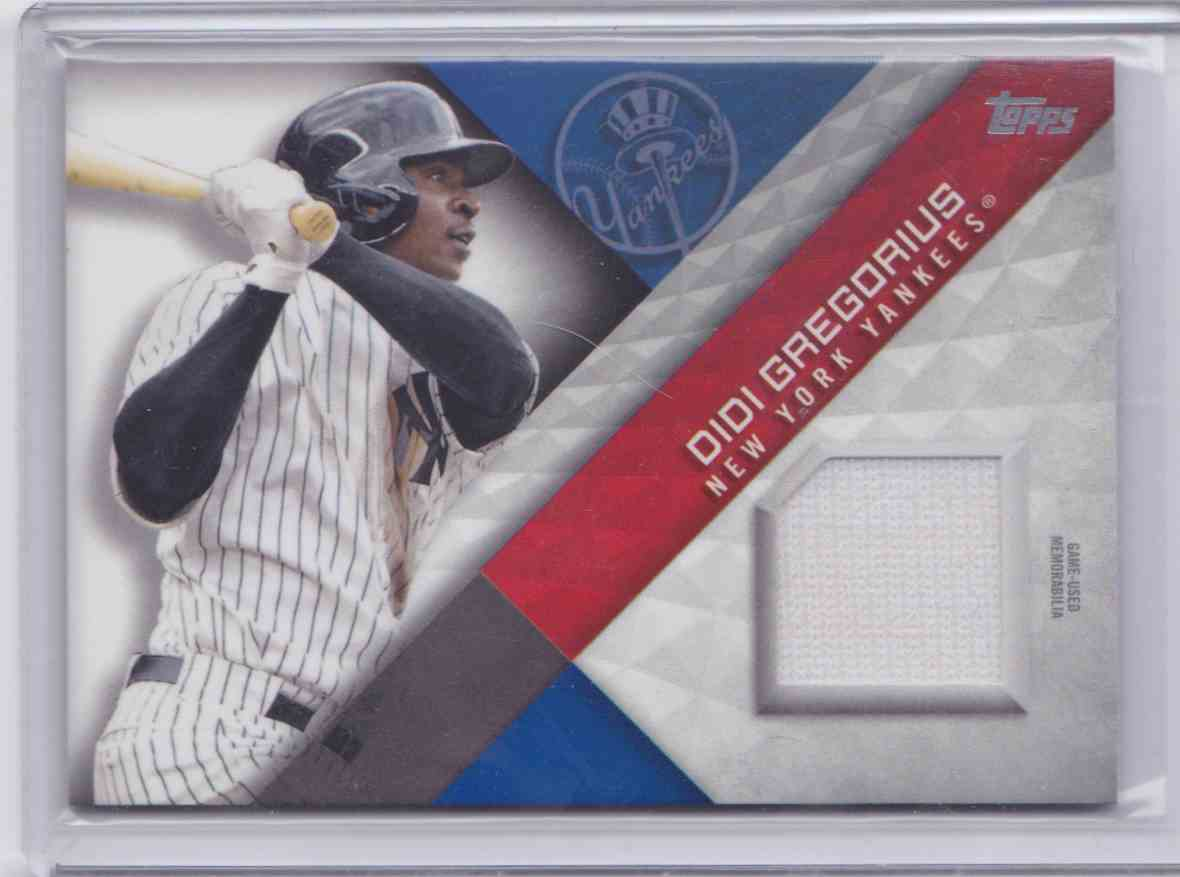 2018 Topps Major League Material DIDI Gregorius #MLM-DG card front image