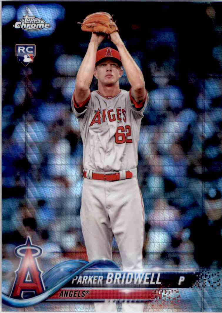 2018 Topps Chrome Prism Refractor Parker Bridwell #77 card front image