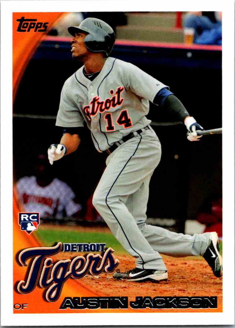 2010 Topps Austin Jackson #503 card front image