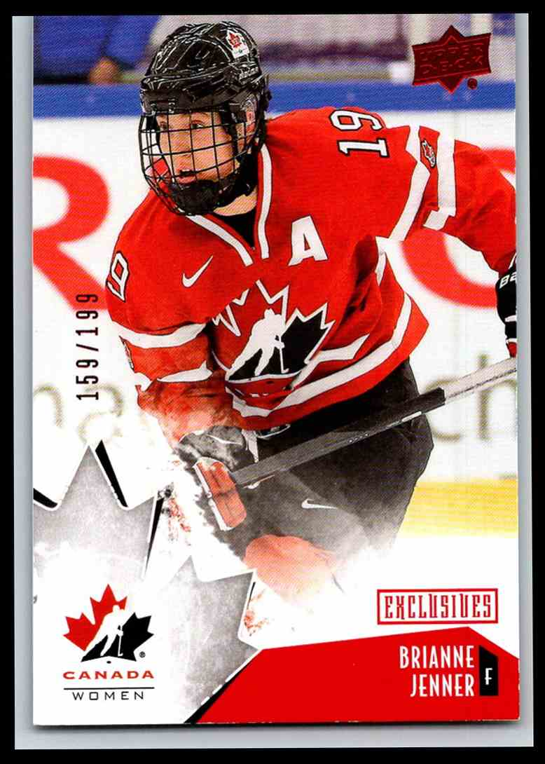2015-16 Upper Deck Team Canada Juniors Exclusives Red Brianne Jenner #52 card front image