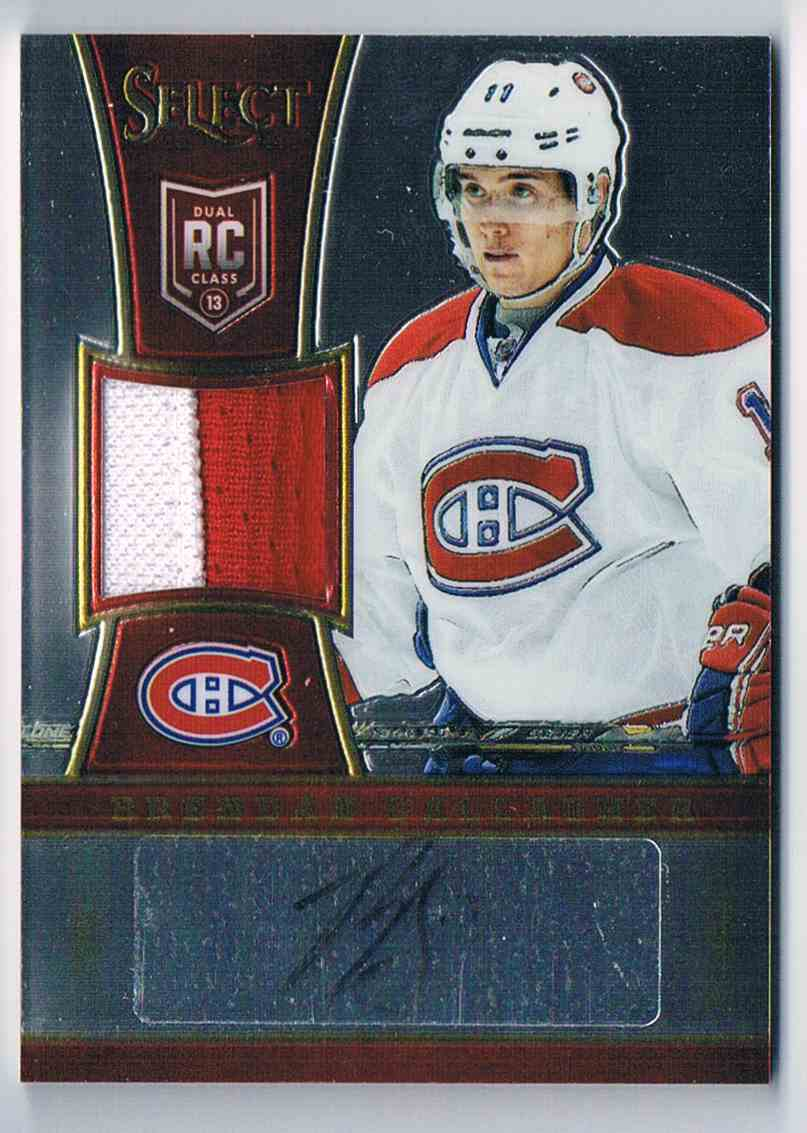 2013-14 Panini Select Rookies Jersey Autographs Prime Brendan Gallagher #295 card front image