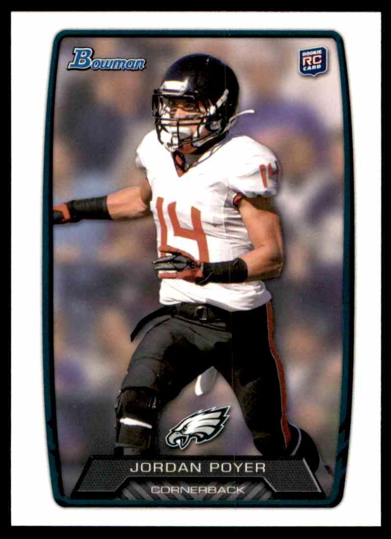 2013 Bowman Jordan Poyer RC #213 card front image