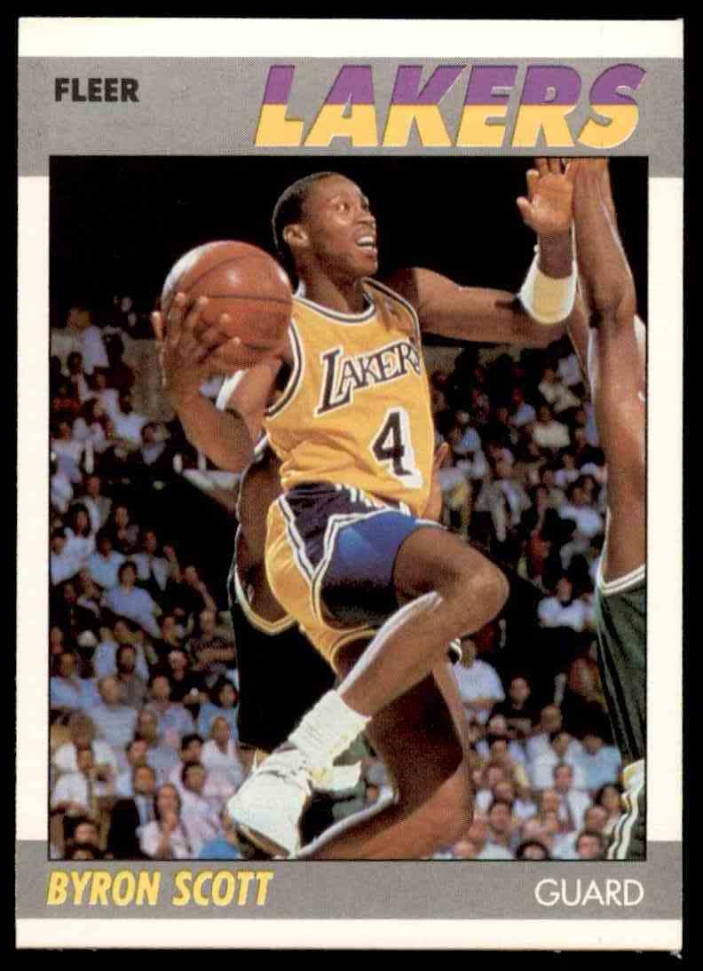 1987-88 Fleer Basketball Byron Scott #98 card front image