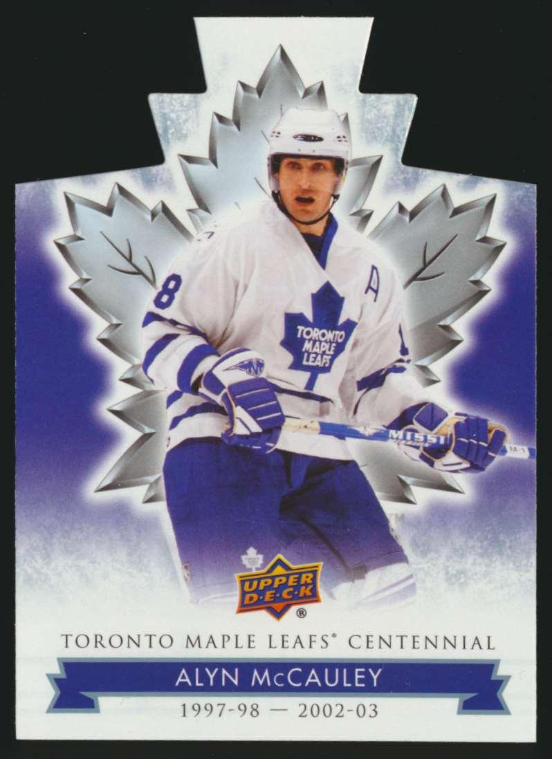 2017-18 UD Maple Leafs Centennial Die Cut Alyn McCauley #8 card front image