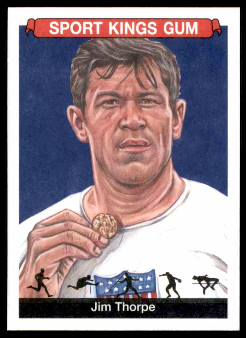 2018 Sportkings Black Back Retail Jim Thorpe #6 card front image