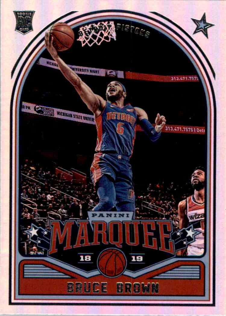 2018-19 Panini Chronicles Bruce Brown/Marquee #244 card front image