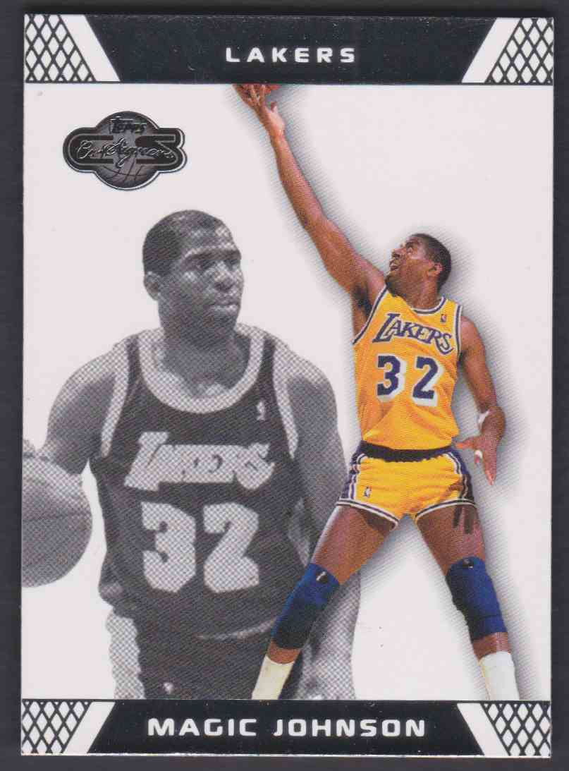 2007-08 Topps Co-Signers Magic Johnson #32 card front image