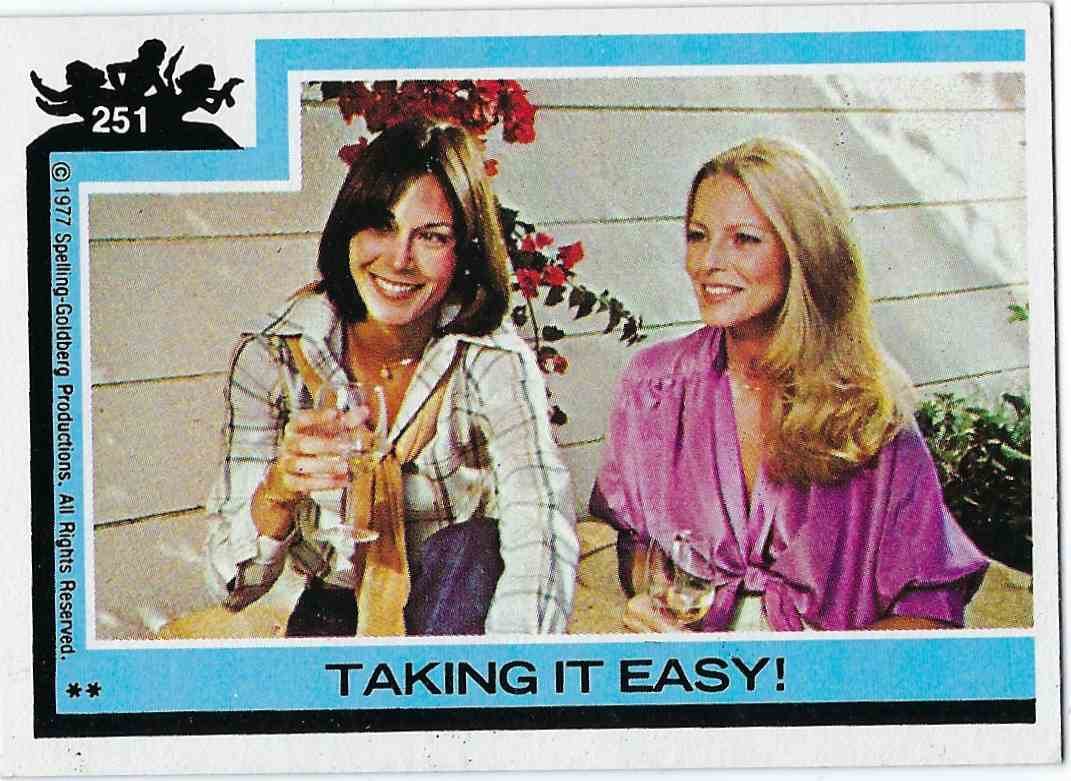 1977 Topps Charlie's Angels Taking It Easy! #251 card front image