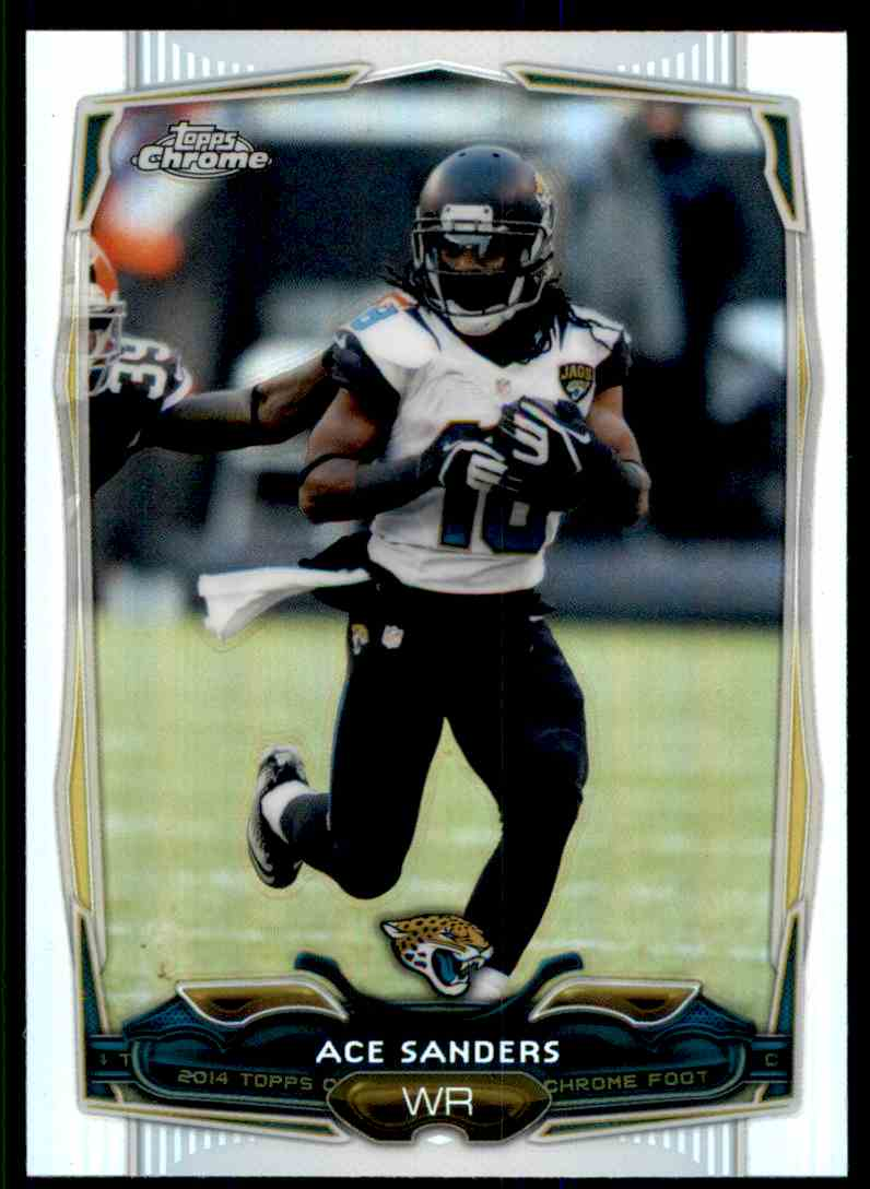 2014 Topps Chrome Refractors Ace Sanders #48 card front image